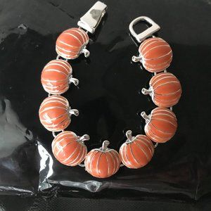 Pumpkin Bracelet Magnetic Closure Thanksgiving New